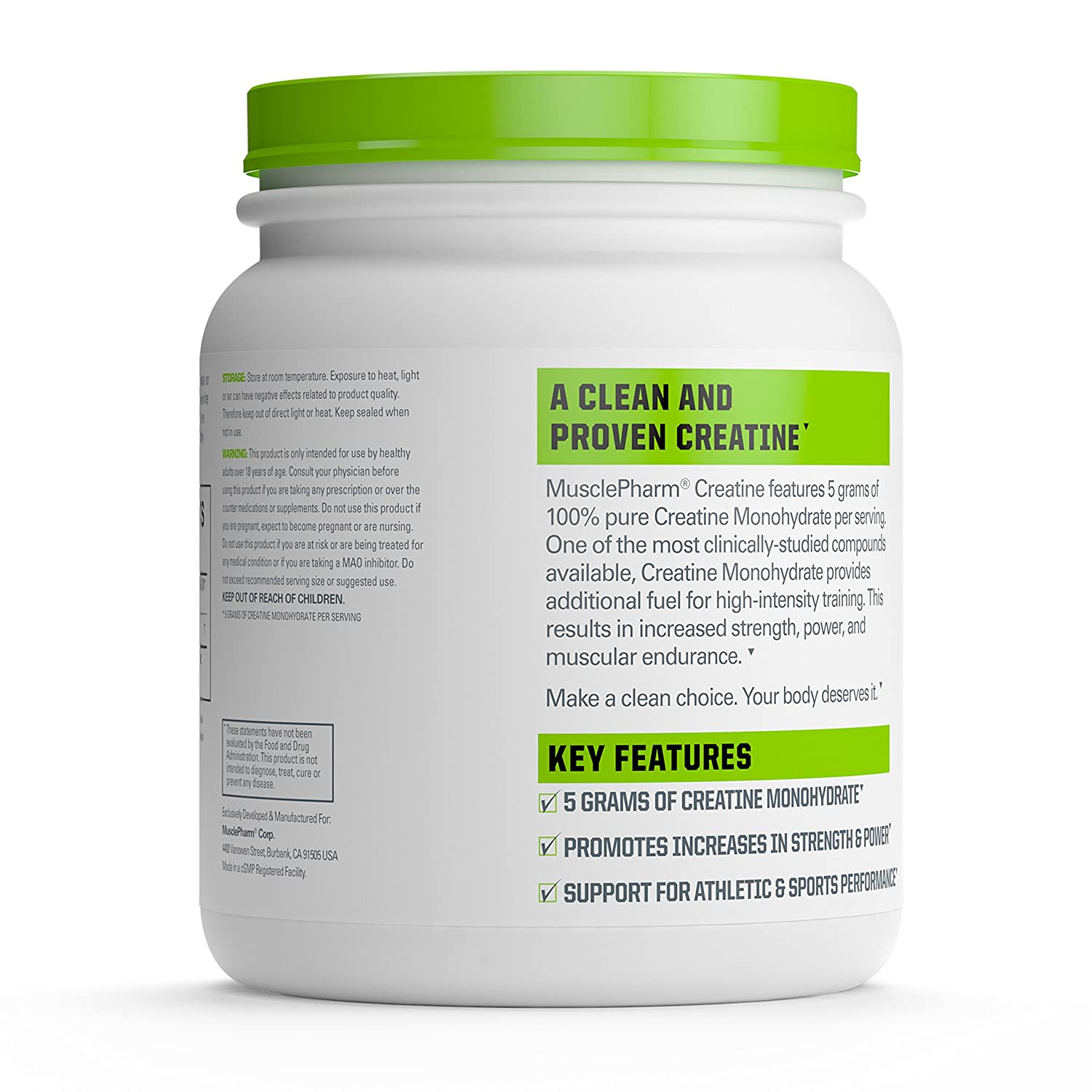 Amazon.com: MusclePharm Creatine, Ultra Pure 100% Creatine Monohydrate  Powder, Muscle Building and Recovery: Health & Personal Care