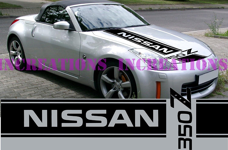 Amazon com nissan 350z nismo front stripe hood decal sticker car truck racing sport car white home kitchen