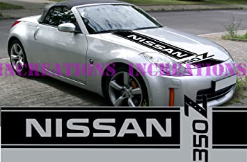 Nissan 350z Nismo Front Stripe Hood Decal Sticker Car Truck Racing Sport  Car (White)