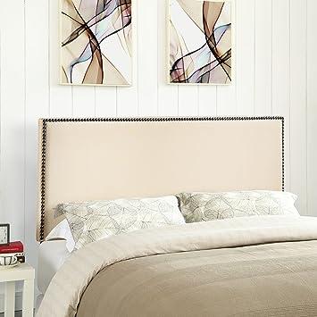 Amazon.com: Cabecero tapizado en color marfil de Region ...