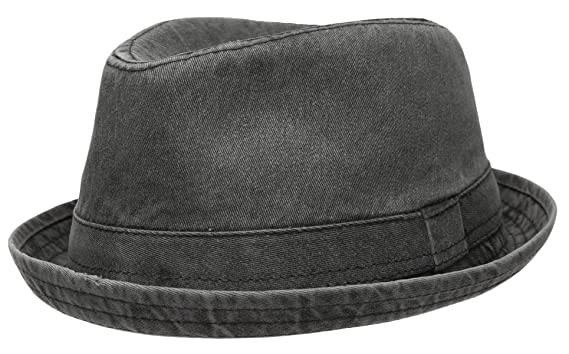 64046e01ac Epoch Men's Casual Vintage Style Washed Cotton Fedora Hat at Amazon ...