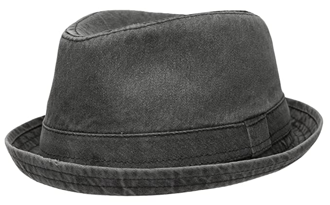Epoch Men s Casual Vintage Style Washed Cotton Fedora Hat at Amazon ... 3a910f786fd