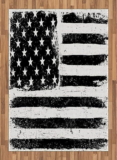 ABAKUHAUS Estados Unidos Alfombra de Área, Bandera EEUU Desgastada ...