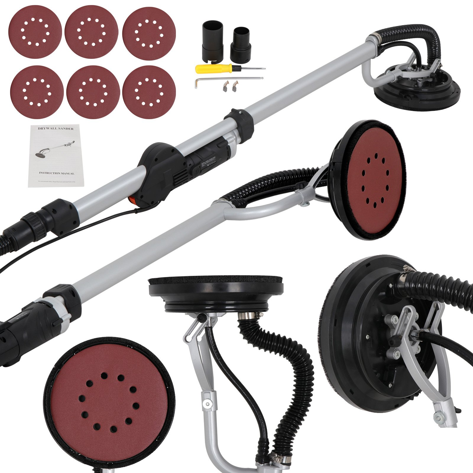 ZENY 800W Drywall Sander, Electric Drywall Sander with 6 Variable Speeds & 6 Sand Pads by ZENY
