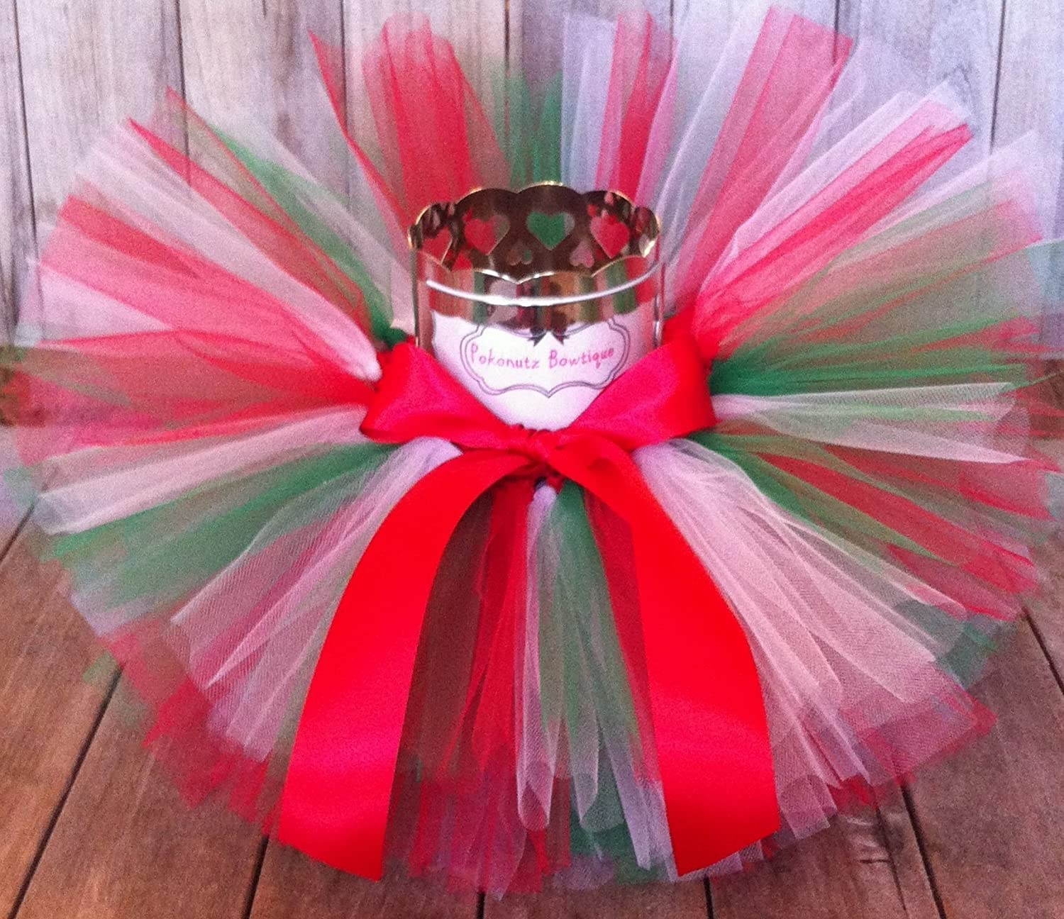 Christmas Tutu, Red, White, and Green Tutu, Baby Tutu, Green Tutu, Girls Tutu, Photo Prop Tutu, Birthday Tutu, Newborn Tutu