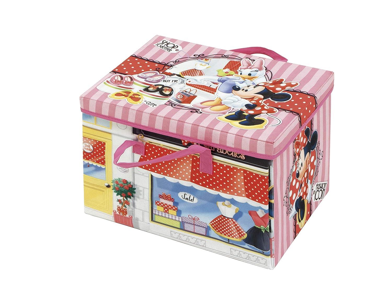 ARDITEX Box de Almacenamiento 2 en 1 con Alfombra de Juego bajo Licencia Minnie Mouse Dimensions: 41 x 31 x 28 cm PP cart/ón 41 x 28 x 31 cm