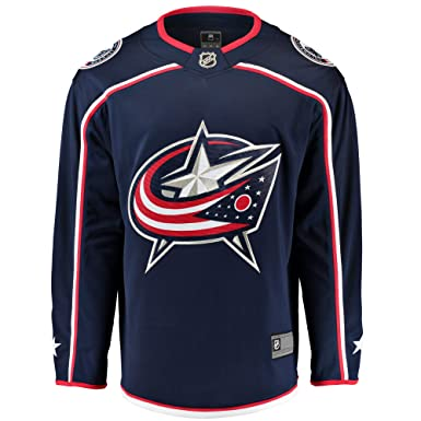 info for d73a0 fe56f Outerstuff Columbus Blue Jackets Blank Navy Blue Youth Home Premier Team  Jersey (Small Medium