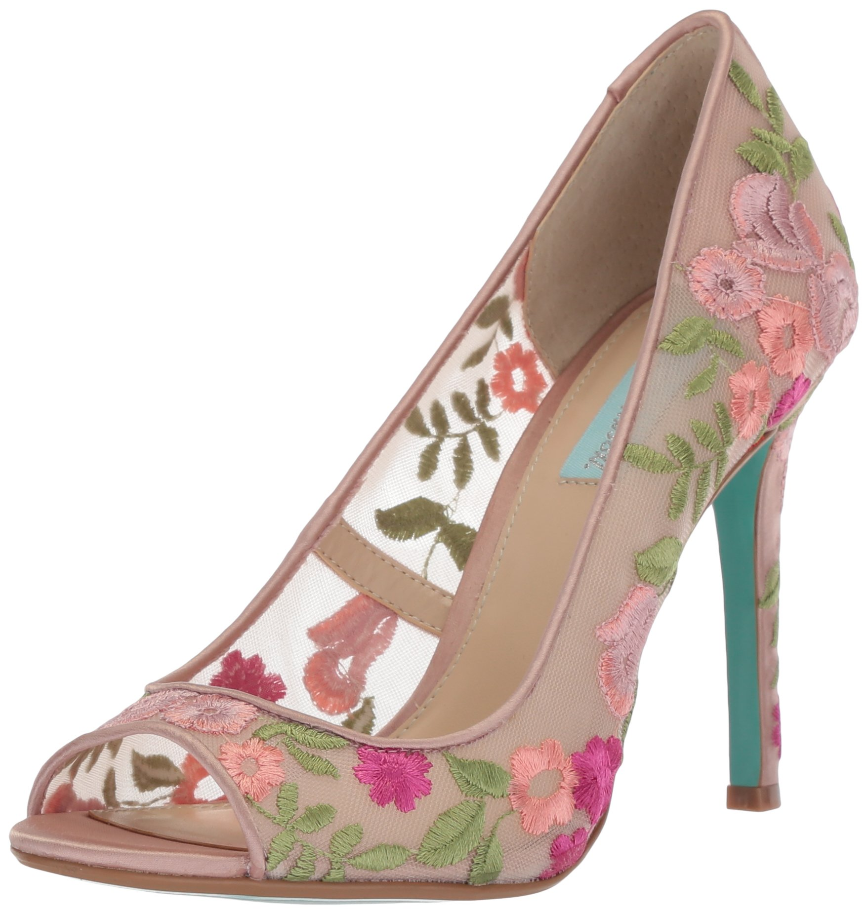 Blue by Betsey Johnson Women's SB-Adley Heeled Sandal, Pink/Multi, 8.5 M US