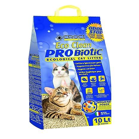 Croci C4025138 Arena para Gatos Eco Clean Probiotic, 10 L: Amazon ...