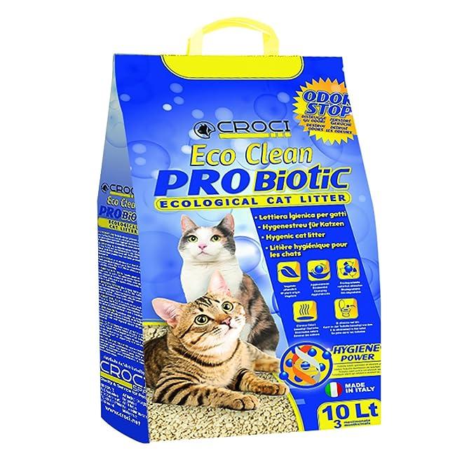 Croci C4025138 Arena para Gatos Eco Clean Probiotic, 10 L: Amazon.es: Productos para mascotas