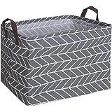 CLOCOR Rectangular Storage Basket,Collapsible Cute Pattern Storage Bin,Waterproof Coating Storage Box with Handles for…