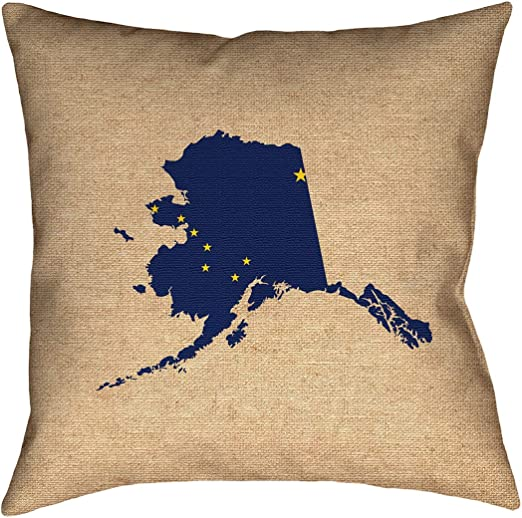 ArtVerse Katelyn Smith 14 x 14 Spun Polyester Double Sided Print with Concealed Zipper /& Insert South Carolina Love Pillow