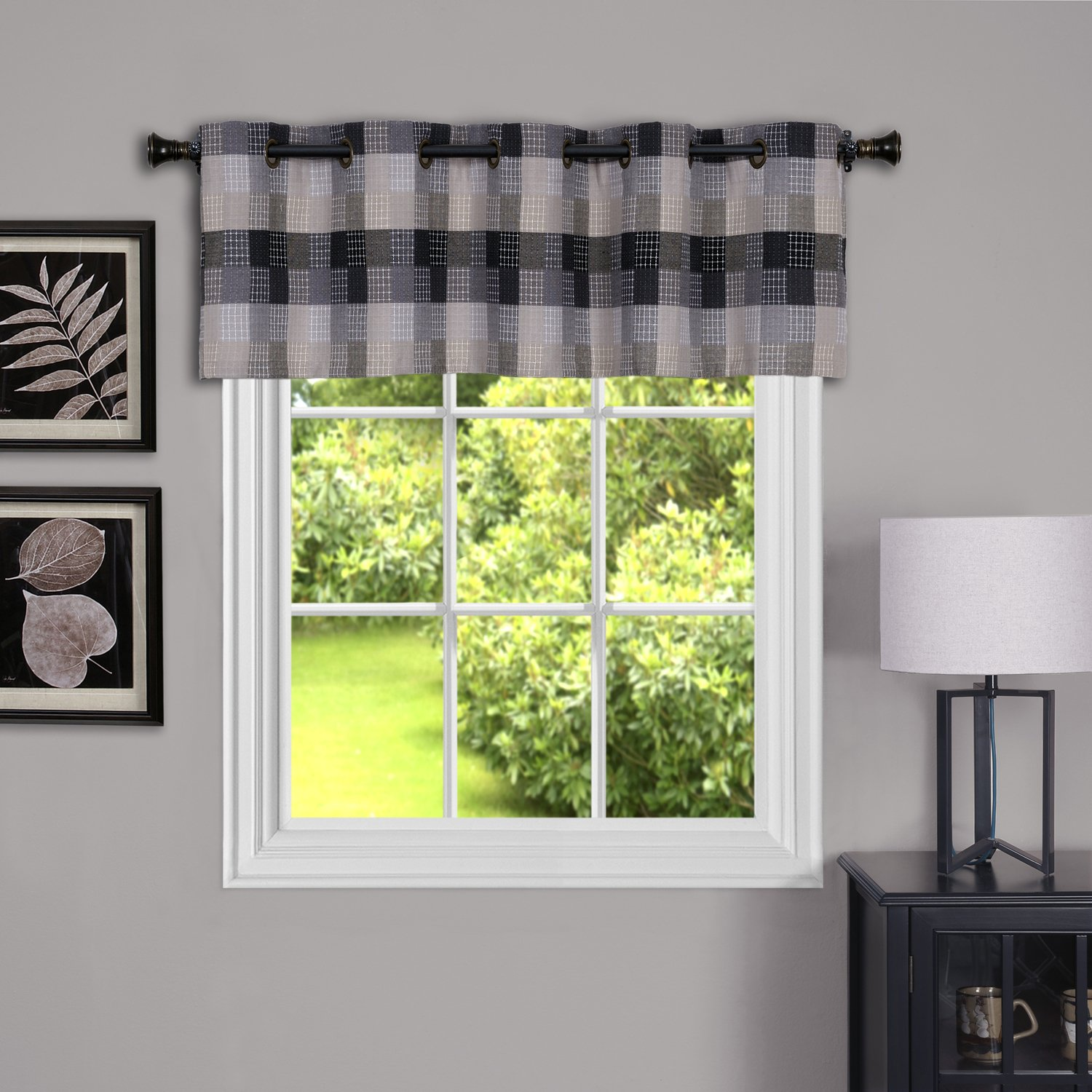 Achim Home Furnishings Harvard Grommet Valance, 58 by 14