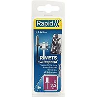 Rapid Blindklinknagels waterdicht Ø 3,2 mm, 2-4 mm klembereik, 50 stuks aluminium klinknagels, set incl. boor, voor…