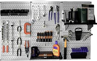 product image for Wall Control 30-WRK-400GB Standard Workbench Metal Pegboard Tool Organizer,Gray/Black