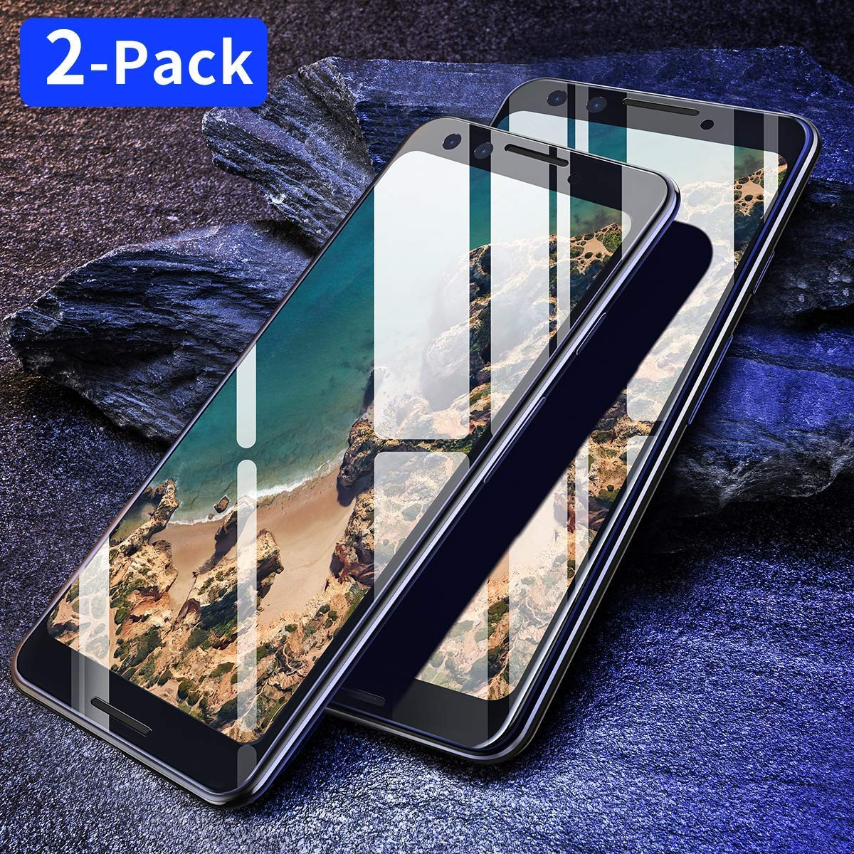 Screen Protector Compatible Google Pixel 3, [2-Pack] Ainope Tempered Glass Screen Protector Full-Coverage 0.33mm Compatible for Google Pixel 3 [Case Friendly] Anti-Fingerprint