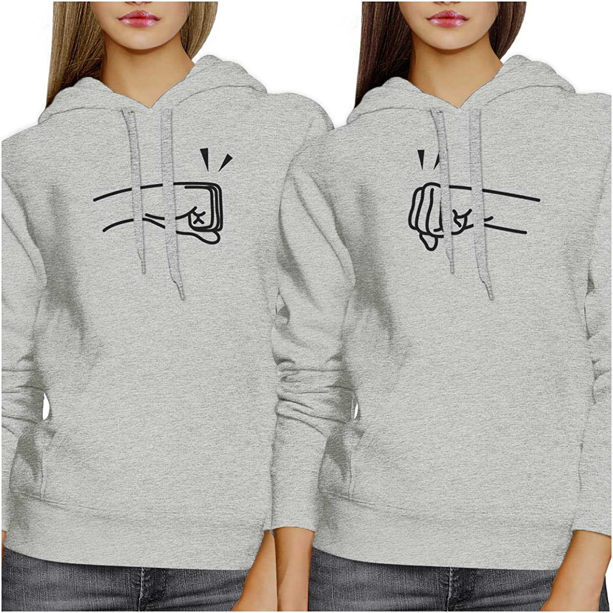 365 Printing Fists Pound Unisex Friend Matching Couple Hoodie Pullover Top