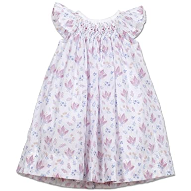 a792ba460b7 Feather Baby Girls Clothes Pima Cotton Hand-Smocked Angel Sleeve Woven Dress  and Bloomer Set