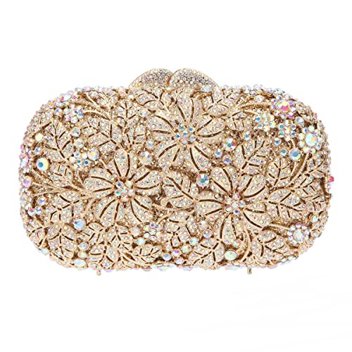 Amazon.com: fawziya Flor Rhinestone bolso para boda Embrague ...