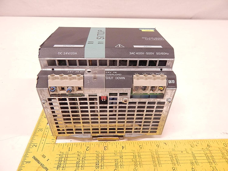 Siemens 6EP1436-3BA00 Sitop Power 20 Power Supply 3AC 400-500V 50//60HZ 20A