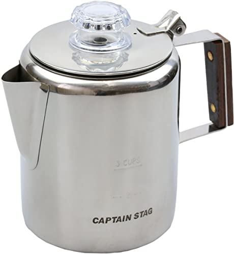 Captain Stag 18-8 Stainless Coffee Percolator 3cup M-1225