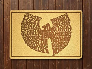 THE WU TANG CLAN Doormat Sweet Home Supplies Décor Accessories Unique Gift Handmade Present Idea Original Design Commercial Outside Inside Personalized Quotes Exterior
