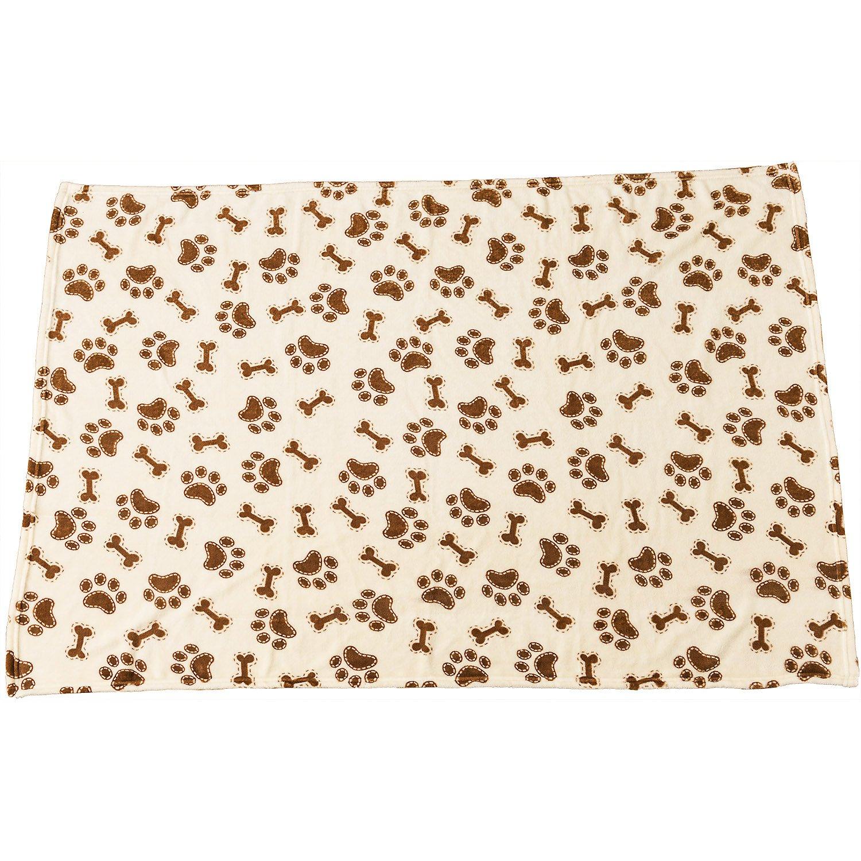 Ethical Pets 50062 Snuggler Bones/Paws Print Blanket