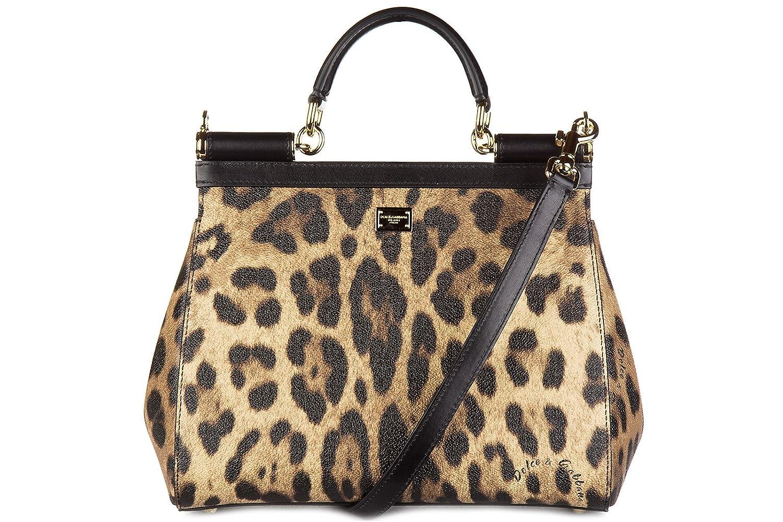 9a32e98b92 Dolce Gabbana Women s Dolce   Gabbana Medium  Sicily  Family Pets Leopard-Print  Handbag Leopard  Amazon.ca  Shoes   Handbags