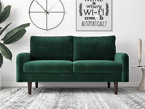 Reviewed: Container Furniture Direct Americus Ultra Modern Velvet Upholstered Living Room Loveseat