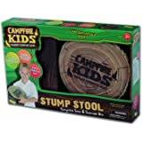 CampFire Kids Stump Stool with built in Storage Seat Ages 3 and Up ILP51006
