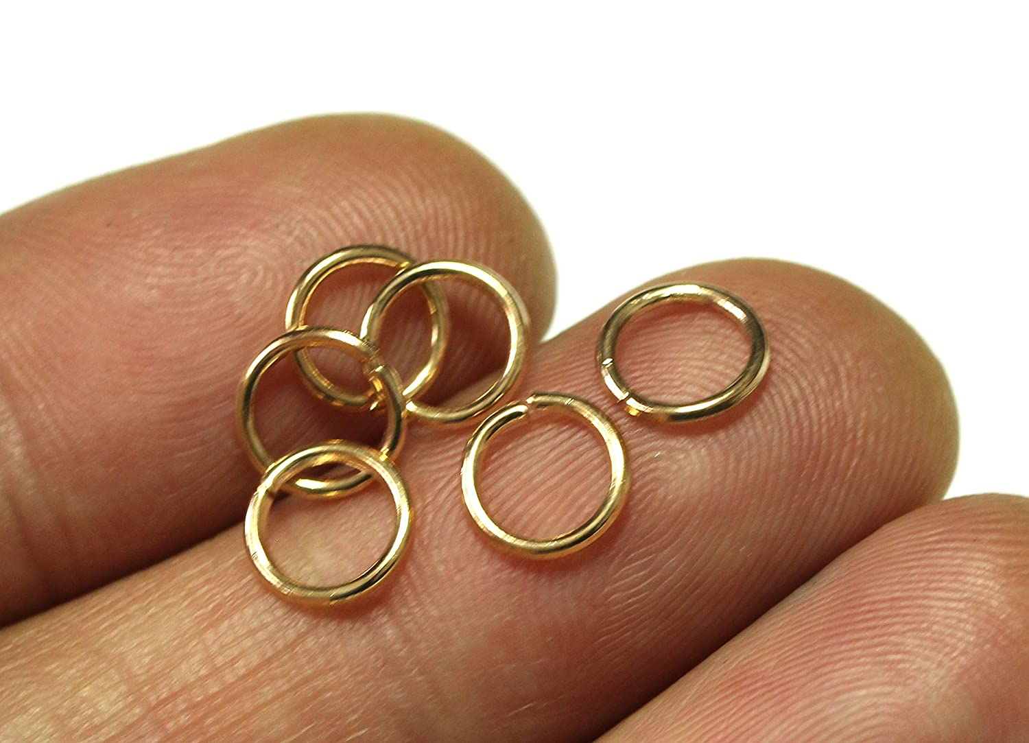 ALL in ONE 2000pcs Open Jump Rings Jewelry Making Gold 4mm