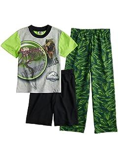 Jurassic World Boys 3 Piece Shorts Pajamas Set (Little Kid/Big Kid)