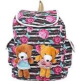 Roshiaaz Women's Cute Two Teddy Flex Multicolor Backpacks - Multicolour