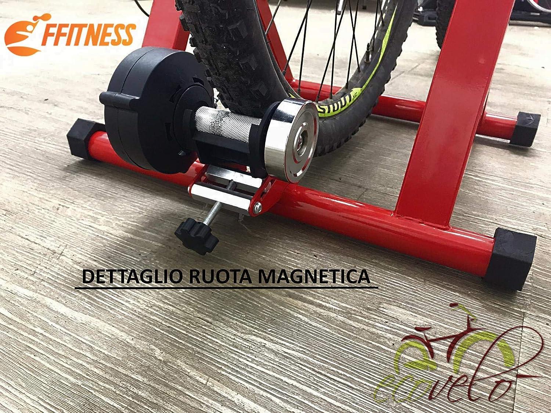 Ecovel/ò Bike Stand Rullo per Bici Allenamento Indoor Pieghevole Resistenza Magnetica Supporto Chiusura A SGANCIO RAPIDO Nero