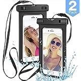 "[2 Pack] Universal Waterproof Phone Pouch,powerman Waterproof Phone Case Underwater New Type TPU Dry Bag for iPhone X/8/8plus/7/7plus/6s/6/6s plus Samsung galaxy s9/s8 Google Pixel up to 6.0"""