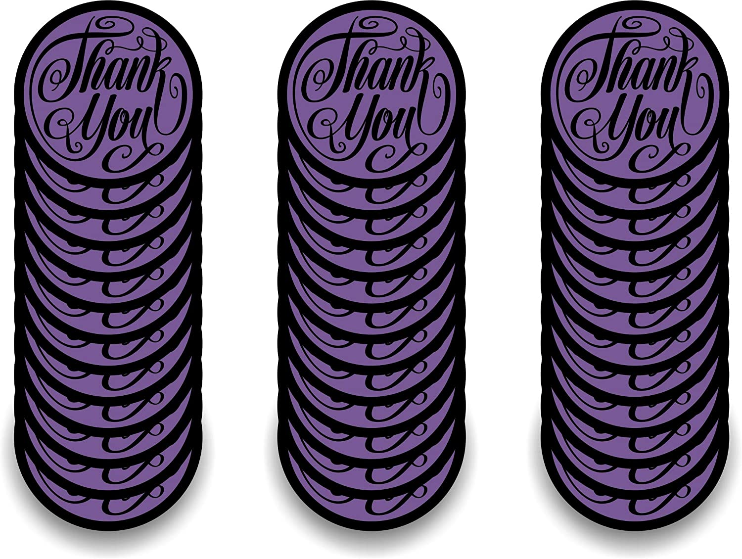 Purchase Appreciation Thank You Pieces SayThank You for Your Order with Package Insert Cards Cut in 1.85 wide Circles Aged Parchment