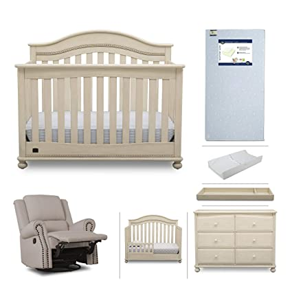 Simmons Kids Bristol 7-Piece Baby Nursery Furniture Set | Convertible Crib,  Dresser, - Amazon.com: Simmons Kids Bristol 7-Piece Baby Nursery Furniture Set