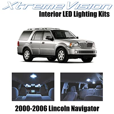 XtremeVision Interior LED for Lincoln Navigator 2000-2006 (6 Pieces) Cool White Interior LED Kit + Installation Tool: Automotive