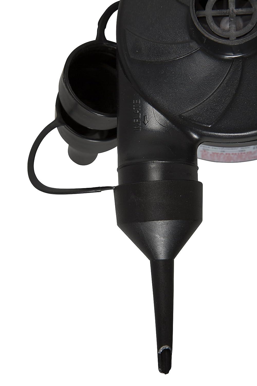 Mountain Warehouse Bomba eléctrica - Bomba Inflable del colchón de Aire de 5 adaptadores, artículo, fácil Utilizar para Las Camas del Blow-up - para Toda la ...