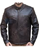 Captain America Civil War Steve Rogers Brown Distressed Cowhide Leather Jacket