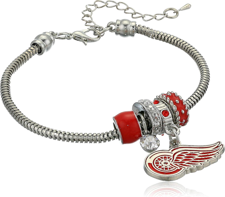 7.5 Siskiyou NHL Chicago Blackhawks Euro Bead Bracelet