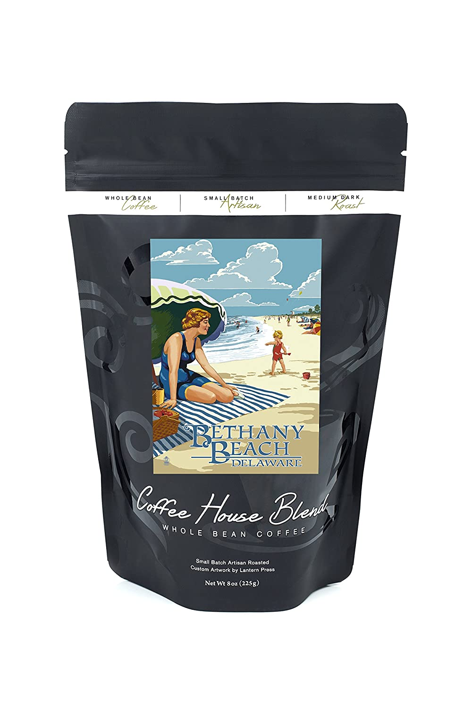 Bethany Beach、デラウェア州 – Woman on beach B074S2RTK4 8oz Coffee Bag8oz Coffee Bag