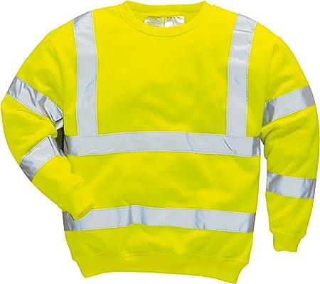 Arancione Portwest S191 T-Shirt con Taschino Manica Lunga ad Alta Visibilit/à XXXL