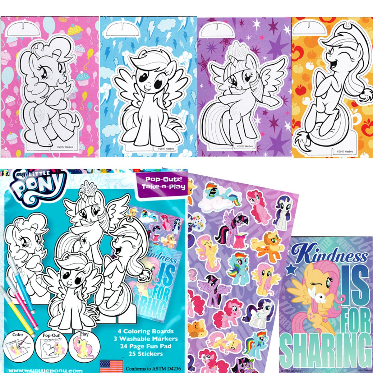 My Little Pony Coloring Book with Take-N-Play Set 6e2525095b6a6