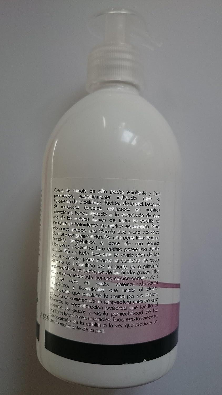 Crema Anticelulítica Reafirmante EFECTO CALOR 500ml keothem ...