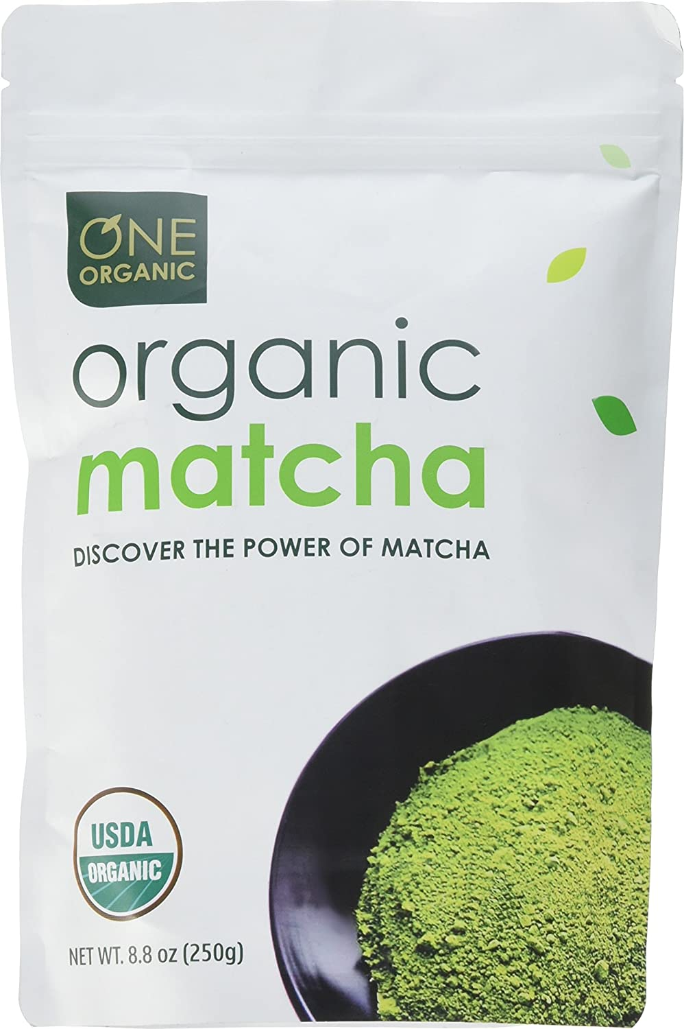 ONE ORGANIC Matcha Green Tea Powder (250g) - USDA Certified Organic SYNCHKG125483