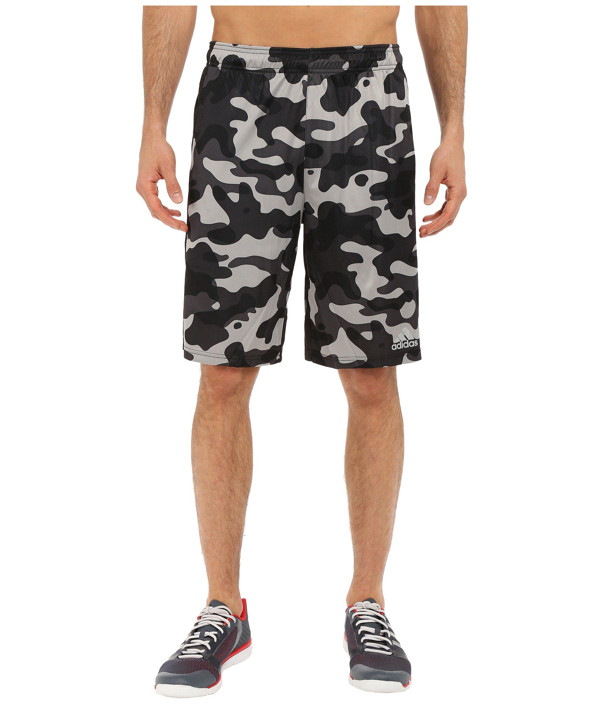 3322ce10a60f adidas Men's Climacore Camo Shorts, Black, Large