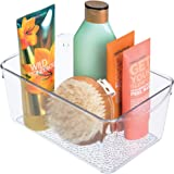 InterDesign Rain Cosmetic Organizer for Vanity Cabinet to Hold Makeup, Beauty Products - Clear