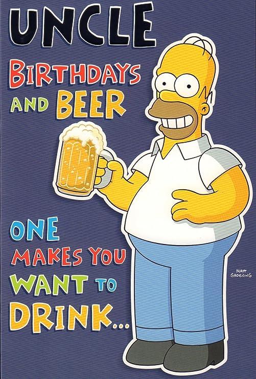 Tío tarjeta de cumpleaños - Uncle cumpleaños y cerveza