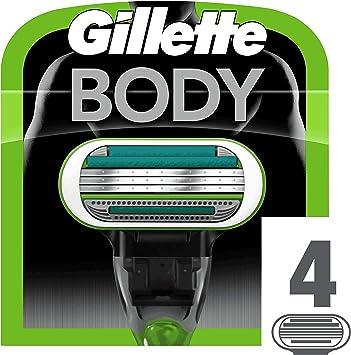 Gillette Body Cuchillas de Recambio de Maquinilla para Depilar - 4 ...